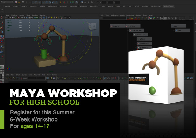 MW HighSchool Learning Maya: A great summer for your (tech savvy) teenagers