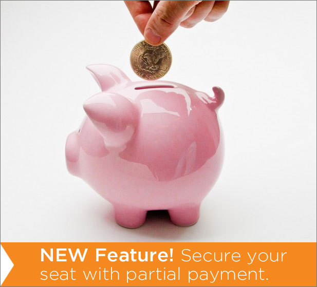 Deposit Feature NEW Feature: Secure Your Seat With A Deposit