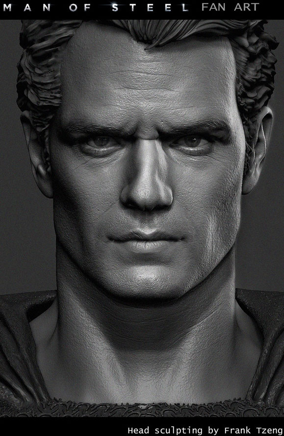 man of steel superman 3d cg animation model