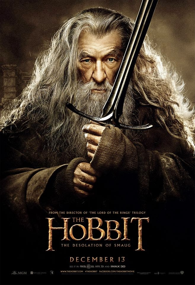 The Hobbit poster gandalf The Hobbit: Desolation of Smaug CG Production