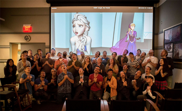Disney Frozen behindthescenes We applaud the artists of Disneys Frozen