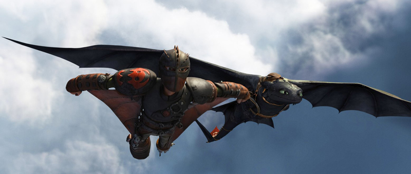 howtotrainyourdragon2 toothless flight1 Animating Toothless: Insider Tips from How To Train Your Dragon 2
