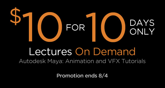banner 1010 MayaAnimationVFXTutorials 10 Tips for Animators: Autodesk Maya Walk through Tutorials