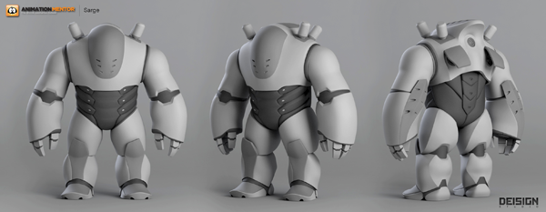 blog sarge modeling Sarge Reporting for Duty: An Animation Mentor Character Rig