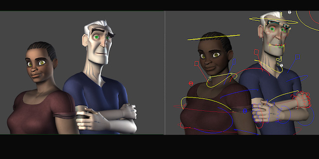 Viktor and Moya Character Rigs
