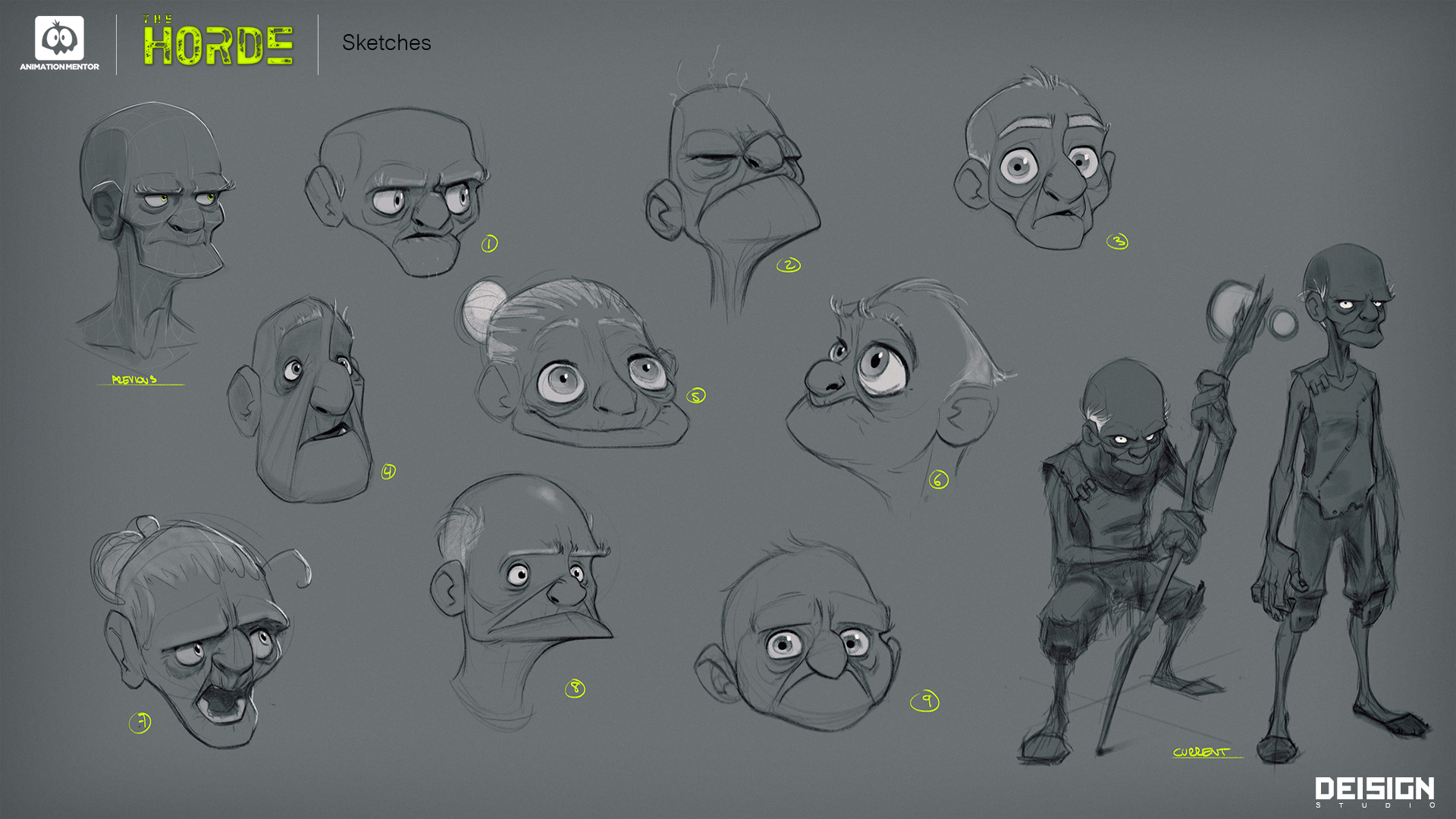 shaman head sketches Introducing the Shaman, A Mystical Animation Mentor Character Rig