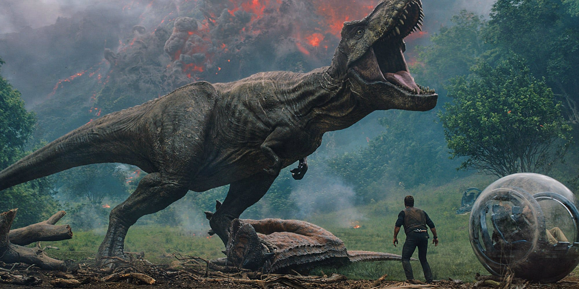 Jurassic World Fallen Kingdom Volcano and T Rex Movies Coming Out in 2018: What to Watch in Animation