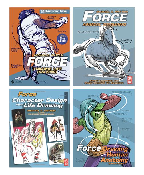 Mike Mattesi FORCE Drawing Books