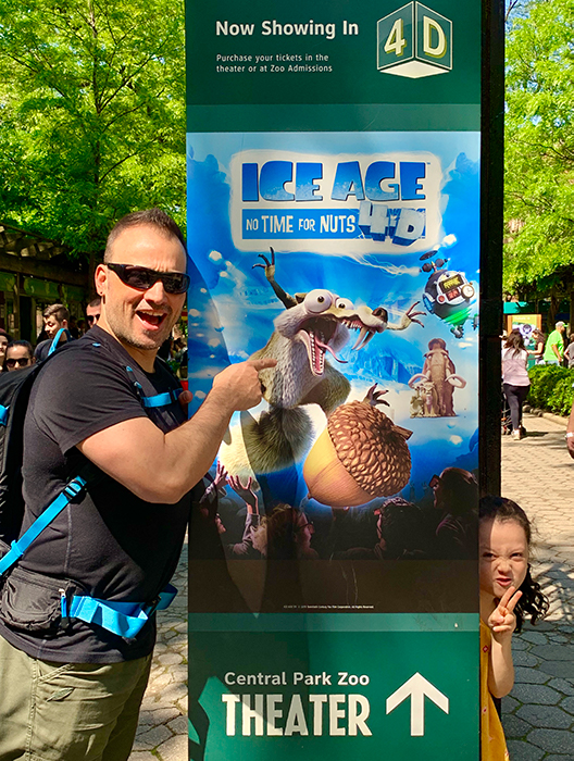Dave and his daughter find Scrat from Ice Age in Central park