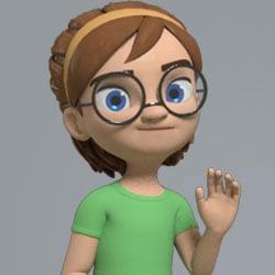 AM Rig Kayla Animation Characters