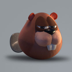 AM Rig Beaver Animation Characters