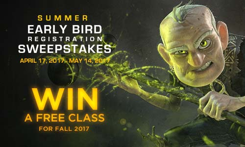 Animation Mentor Early Bird Sweepstakes