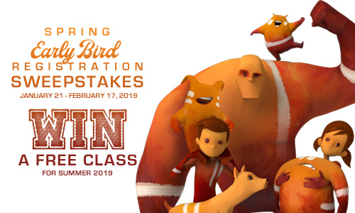 Animation Mentor Early Bird Sweepstakes