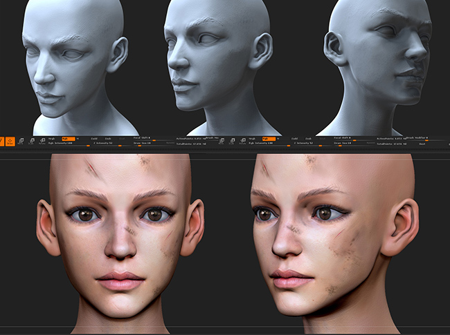 hong chan lim - female head variants